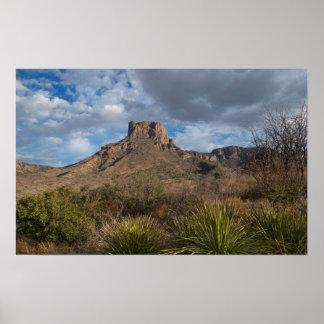 Casa Grande Peak, Chisos Basin, Big Bend Poster