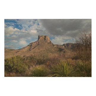 Casa Grande Peak, Chisos Basin, Big Bend Wood Wall Art