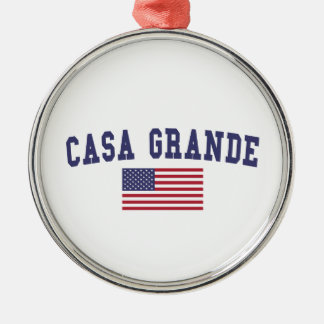 Casa Grande US Flag Metal Ornament