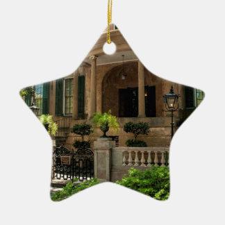 Casa histórica 2 del Victorian de Georgia de la Adorno Navideño De Cerámica En Forma De Estrella