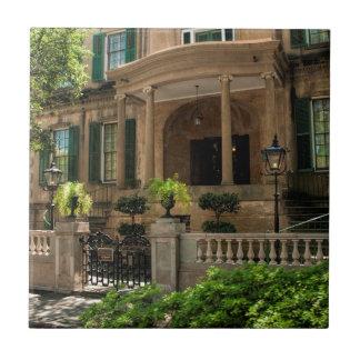 Casa histórica 2 del Victorian de Georgia de la Azulejo Cuadrado Pequeño