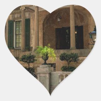 Casa histórica 2 del Victorian de Georgia de la Pegatina En Forma De Corazón