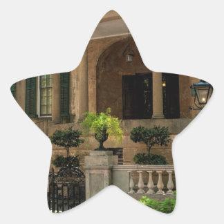 Casa histórica 2 del Victorian de Georgia de la Pegatina En Forma De Estrella
