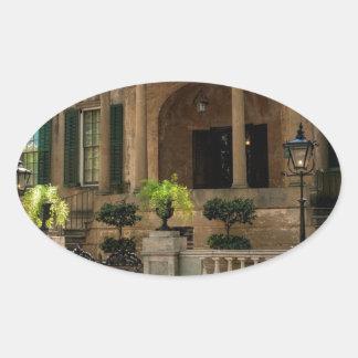 Casa histórica 2 del Victorian de Georgia de la Pegatina Ovalada