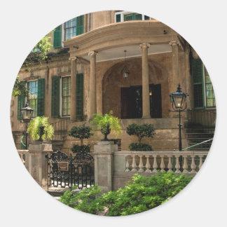 Casa histórica 2 del Victorian de Georgia de la Pegatina Redonda