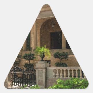Casa histórica 2 del Victorian de Georgia de la Pegatina Triangular