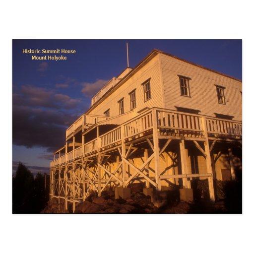 Casa histórica el Monte Holyoke de la cumbre Tarjetas Postales
