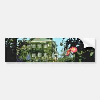 Casa histórica roja del Prescott, Kentville, Nova  Etiqueta De Parachoque