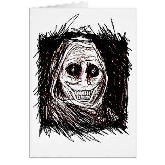 Casa-huésped horrorosa, nunca solo, no convidada tarjetas
