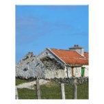 Casa irlandesa abandonada membrete