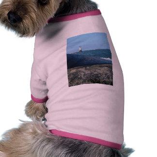 Casa ligera de la playa camiseta de mascota