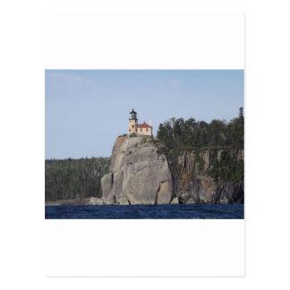 casa ligera de la roca partida tarjeta postal