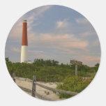 Casa ligera New Jersey los E.E.U.U. de la isla de Pegatinas Redondas