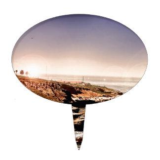 Casa ligera por el océano figura de tarta
