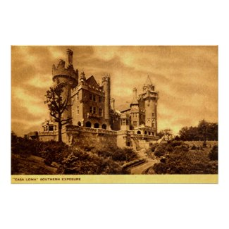 Casa Loma Toronto Canada 1920s Vintage print
