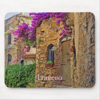 Casa medieval en encantar Italia Alfombrilla De Raton