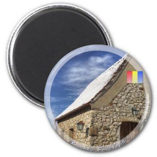 Casa medieval imán redondo 5 cm