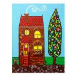 Casa minúscula postales