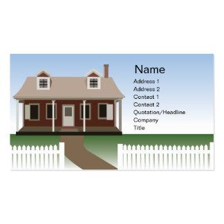 Casa - negocio tarjetas de visita