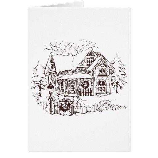Casa Nevado Tarjeta De Felicitación