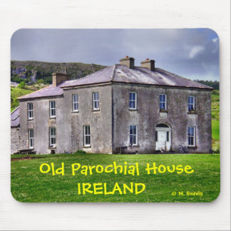 Casa parroquial irlandesa vieja Mousepad Tapete De Raton