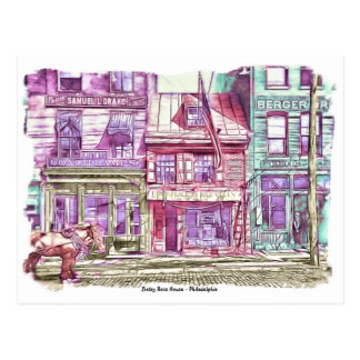 Casa Philadelphia de Betsy Ross Tarjetas Postales