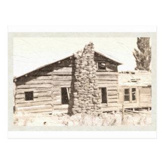 Casa pionera vieja postales