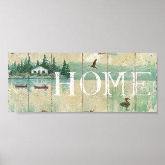 Casa por el lago impresiones