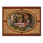 Casa - pórtico - americano tradicional postales