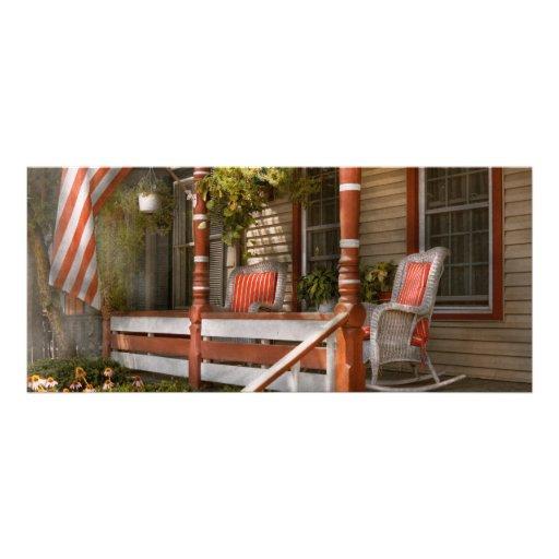 Casa - pórtico - americano tradicional lona personalizada