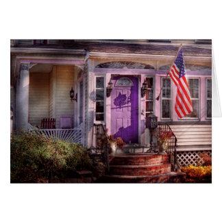 Casa - pórtico - Cranford, NJ - precioso en lavand Felicitación