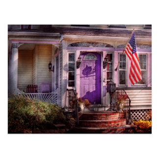 Casa - pórtico - Cranford, NJ - precioso en lavand Tarjetas Postales