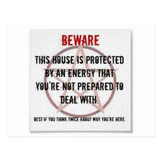 casa protegida energía del wicca postal
