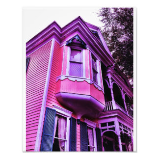Casa púrpura del Victorian Fotografías