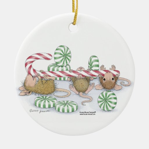 Casa-Ratón Designs® - el primer navidad del bebé Adorno Redondo De Cerámica