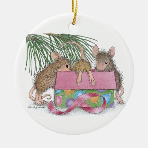 Casa-Ratón Designs® - el primer navidad del bebé Adorno De Navidad