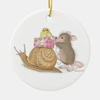 Casa-Ratón Designs® - ornamentos Adorno Navideño Redondo De Cerámica