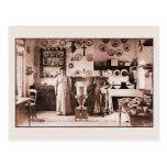 Casa real de la galleta belga y de la crepe del vi tarjeta postal