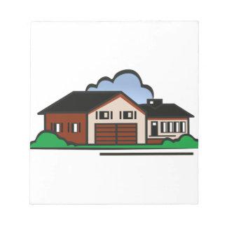 Casa residencial blocs de papel