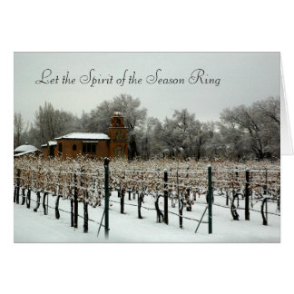 Casa Rodena Winery in Winter Card
