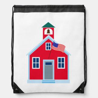 Casa roja de la escuela mochila