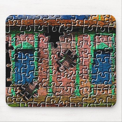 Casa rosada: mousepad del rompecabezas