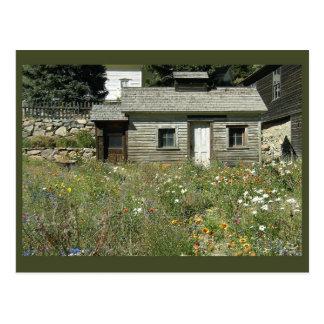 Casa rústica en postal de los Wildflowers