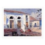Casa, Santiago, Cuba de Winslow Homer Tarjetas Postales