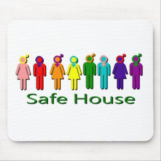 Casa segura tapete de ratón