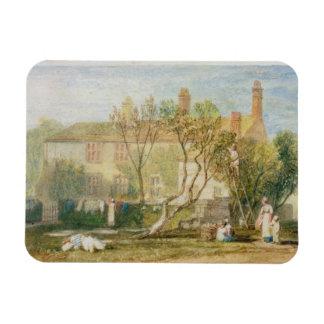 Casa señorial de Steeton, cerca de Farnley, c.1815 Imán De Vinilo