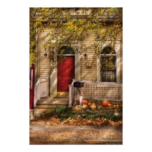 Casa - una indirecta del otoño poster