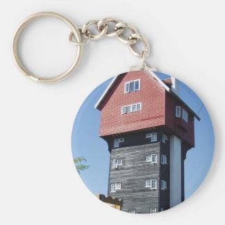 Casa única llavero redondo tipo pin
