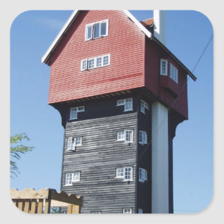 Casa única pegatina cuadrada