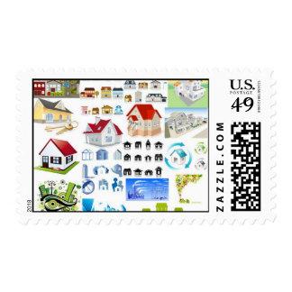 casa-vector-sistema sello